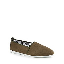 Flossy - Khaki canvas 'Sancho' slip-on trainers
