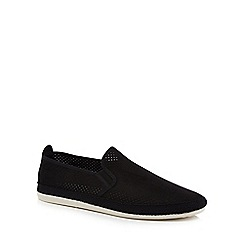 Flossy - Black suedette 'Vendaval' slip on trainers