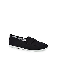 Flossy - Black canvas 'Hobby' loafers