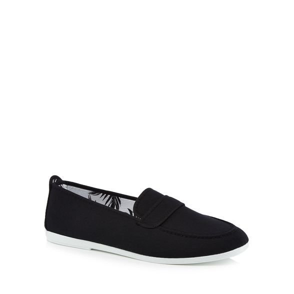 canvas Black loafers 'Hobby' Flossy 'Hobby' canvas Black Black Flossy canvas 'Hobby' loafers Flossy loafers dTpYdwx
