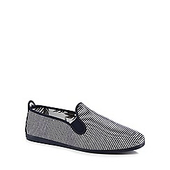Flossy - Navy striped 'Torrecilla' slip-on trainers