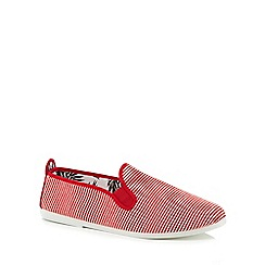 Flossy - Red striped 'Torrecilla' slip-on trainers