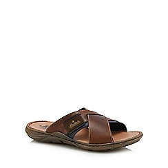 Rieker - Brown leather sandals