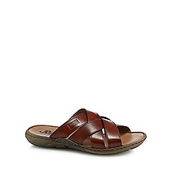 Rieker - Tan leather sandals
