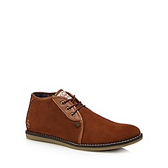 Original Penguin - Dark tan suede 'Legal' desert boots