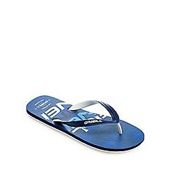 O'Neill - Blue logo print flip flops