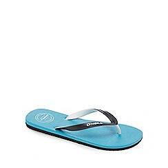 O'Neill - Turquoise logo strap flip flops