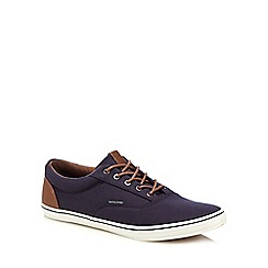 Jack & Jones - Navy canvas 'Vision' trainers