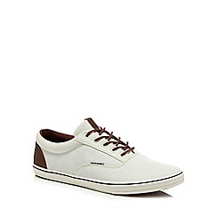 Jack   Jones - White canvas  Vision  trainers 2c5b34c40d