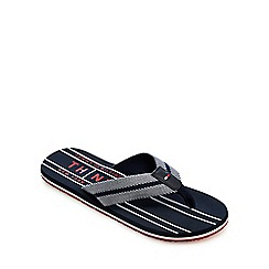 Tommy Hilfiger - Navy striped flip flops