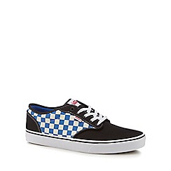 Vans - Navy canvas 'Atwood' checkerboard trainers