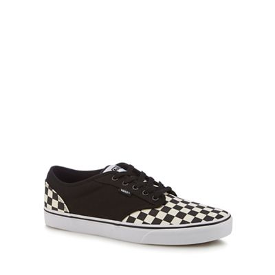 Vans Black - Black Vans canvas 'Atwood' checkerboard trainers 908293
