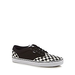 Vans - Black canvas  Atwood  checkerboard trainers 753cd5d6b