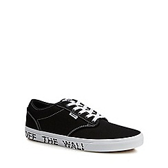 Vans - Black canvas 'Atwood' printed sole trainers