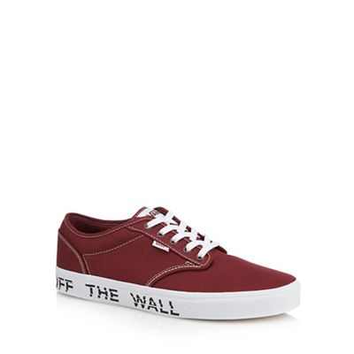 Vans - Red canvas 'Atwood' printed sole trainers