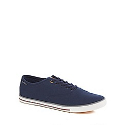 Ben Sherman - Navy canvas trainers