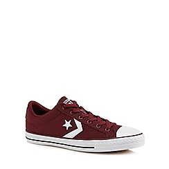 Converse - Dark red 'Star Player' lace up trainers