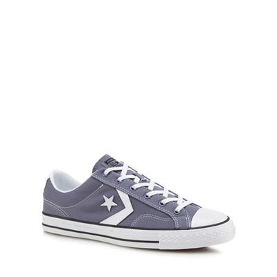 Converse - Grey 'Star Player' lace up trainers