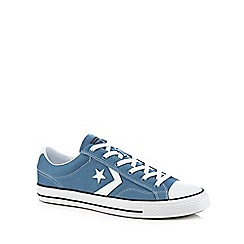Converse - Blue canvas 'Star Player Ox' trainers