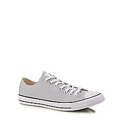 Converse - Grey canvas 'Chuck Taylor 'All Star' trainers