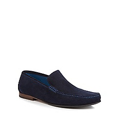 Loake - Navy suede 'Nicholson' moccasins