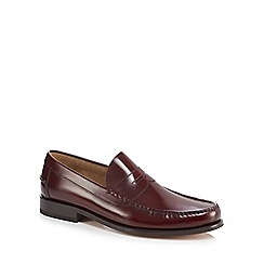 Loake - Purple leather 'Princeton' loafers