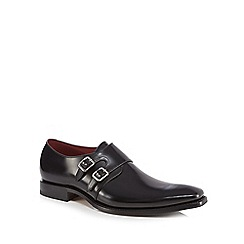 Loake - Black leather 'Mercer' monk strap shoes