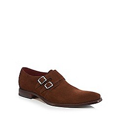 Loake - Brown suede 'Mercer' monk strap shoes