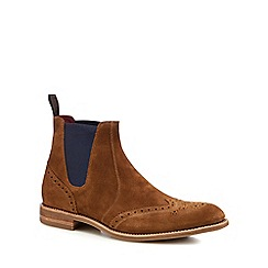 Loake - Tan suede 'Hoskins' Chelsea boots
