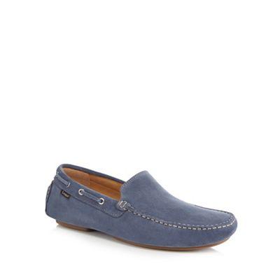 Loake - Light blue suede 'Donnington' slip on shoes