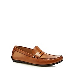 Loake - Brown leather 'Goodwood' loafers
