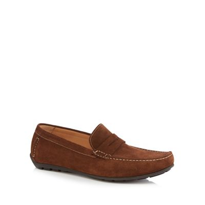 Loake - Brown suede 'Goodwood' loafers