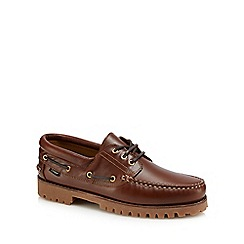 Loake - Brown leather '522' boat shoes