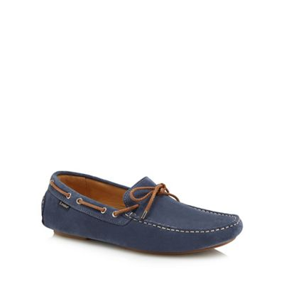 Loake - Light blue suede 'Thruxton' loafers