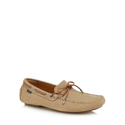 Loake - Natural suede 'Thruxton' loafers