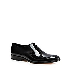 Loake - Black leather patent Oxford shoes