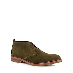 Loake - Green suede 'Sandown' chukka boots