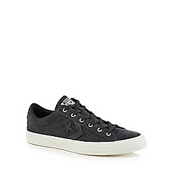 Converse - Black canvas 'Star Player' trainers