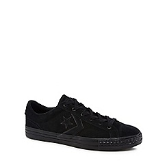 Converse - Black suede 'Star Player' lace up trainers
