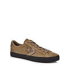 Converse - Khaki suede 'Star Player' trainers
