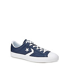 Converse - Navy leather 'Star Player' trainers