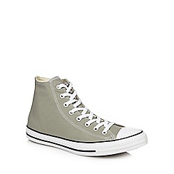 Converse - Khaki canvas 'Chuck Taylor All Star' hi-top trainers