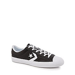 Converse - Black leather 'Star Player' lace up trainers