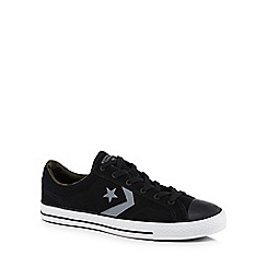 Converse - Black suede 'Star Player' trainers