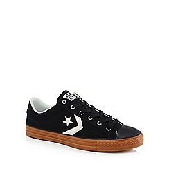 Converse - Black canvas 'Star Player' lace up trainers