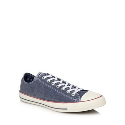 Converse Navy canvas  Chuck Taylor All Star  lace up trainers ... aa0bd3e22