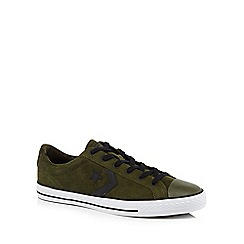 Converse - Khaki suede 'Star Player' lace up trainers