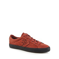 Converse - Dark orange suede 'Star Player' trainers