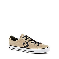 Converse - Camel suede 'Star Player' trainers