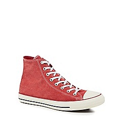 Converse - Red canvas 'Chuck Taylor All Star' hi-top trainers